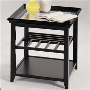 Progressive Furniture Sandpiper Contemporary Rectangular End Table