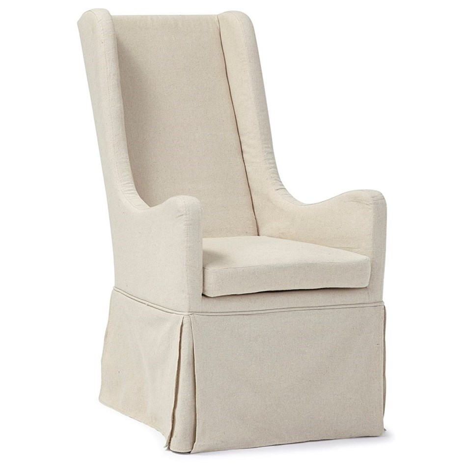 Progressive Furniture Sienna Skirted Wing Chair With Tall