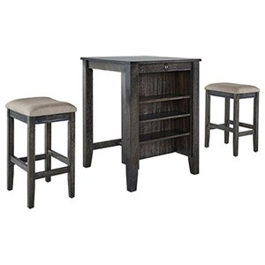 3-Piece Counter Table & 2 Stool Set