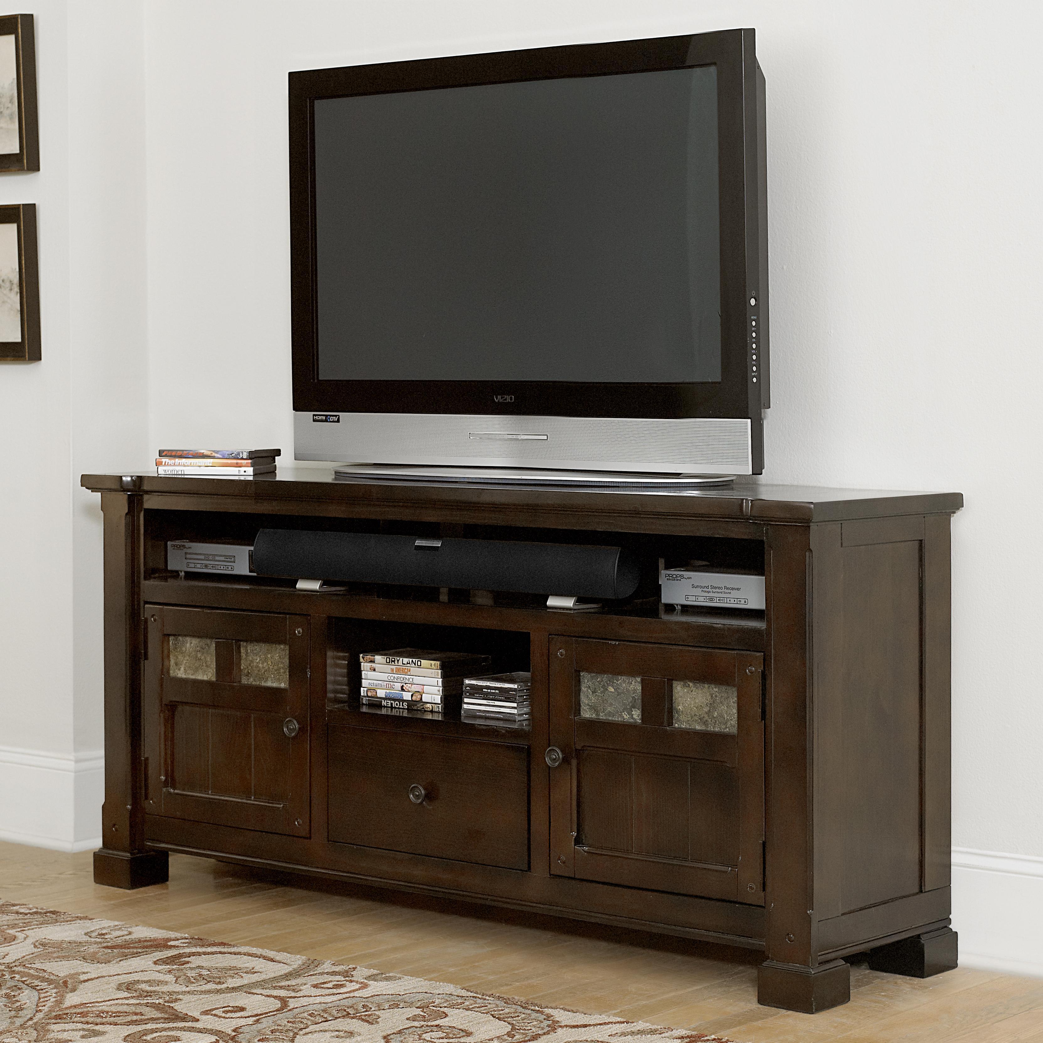 """Home Furniture Distribution Center: Progressive Furniture Telluride 64"""" Console With Slate"""