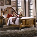 Progressive Furniture Thunder Bay Queen Low Poster Bed - 1253-60+61+62 - Bed Shown May Not Represent Size Indicated