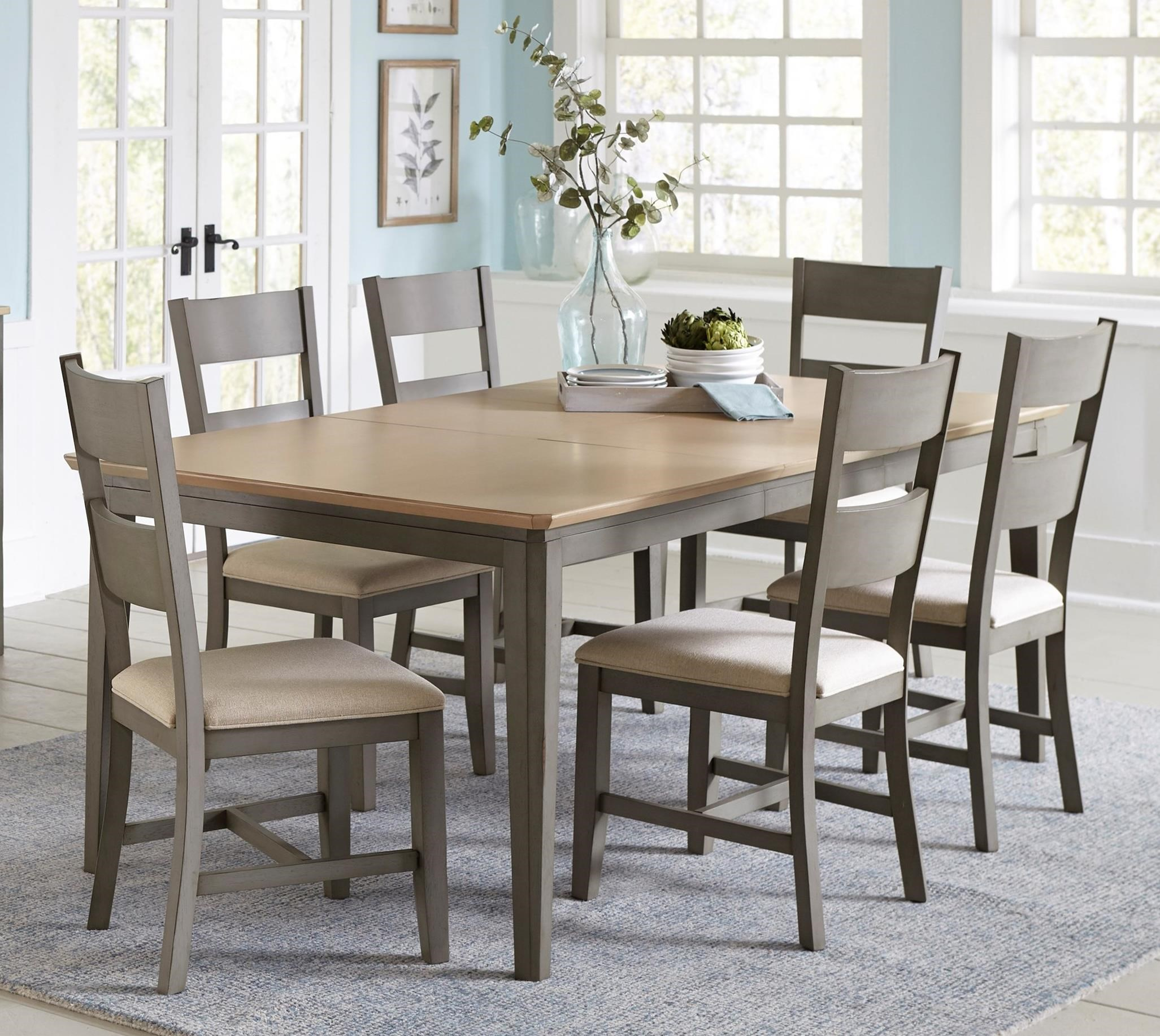 Progressive Furniture Toronto Transitional 9 Piece Table and Chair ...