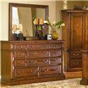 Progressive Furniture Torreon 11-Drawer Dresser - 61657-23 - Shown with mirror