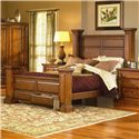 Progressive Furniture Torreon Queen Low Post Bed with Footboard Storage - 61657-34+35+49+77 - Bed Shown May Not Represent Size Indicated