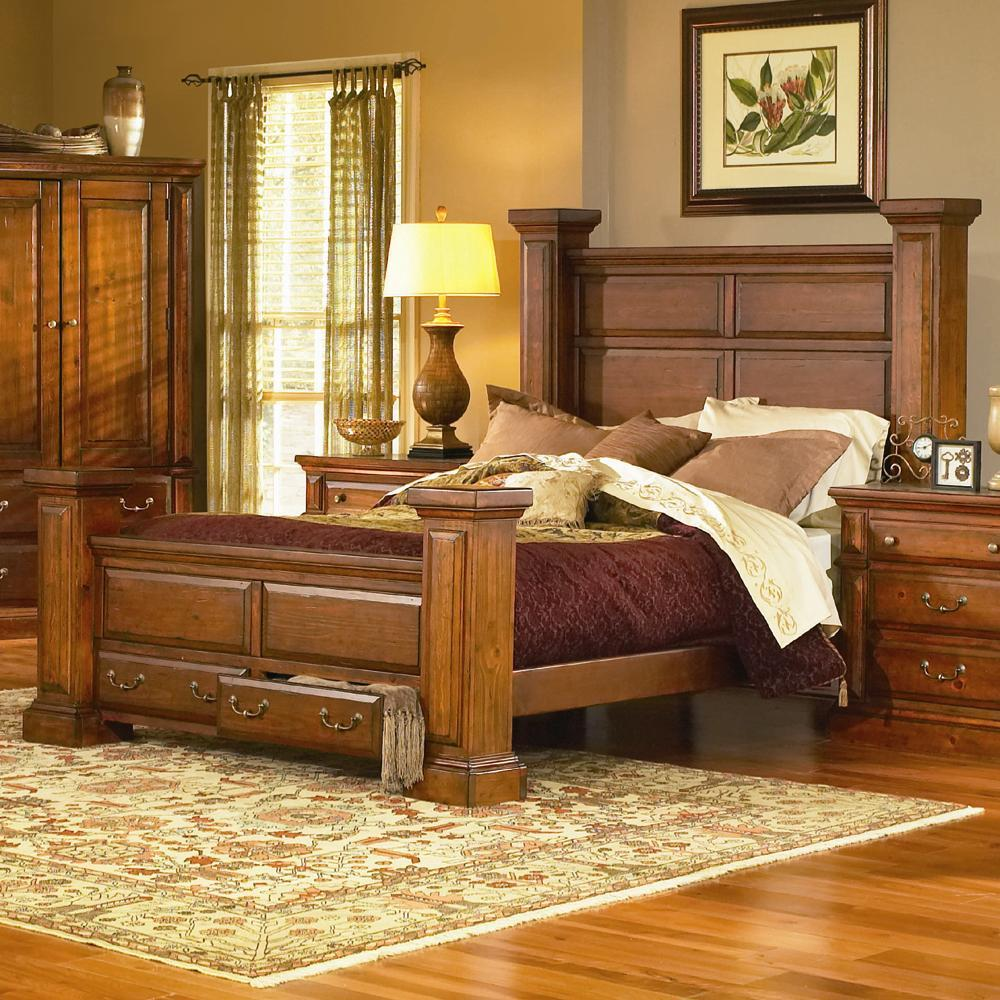 Progressive Bedroom Furniture King Low Post Bed With Footboard Storage Torreon By Progressive