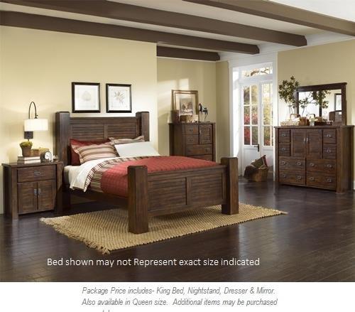 Progressive Furniture Trestlewood 4pc King Bedroom - Item Number: P611 King BDMNS