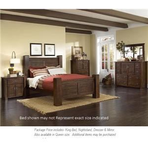 Progressive Furniture Trestlewood 4pc King Bedroom
