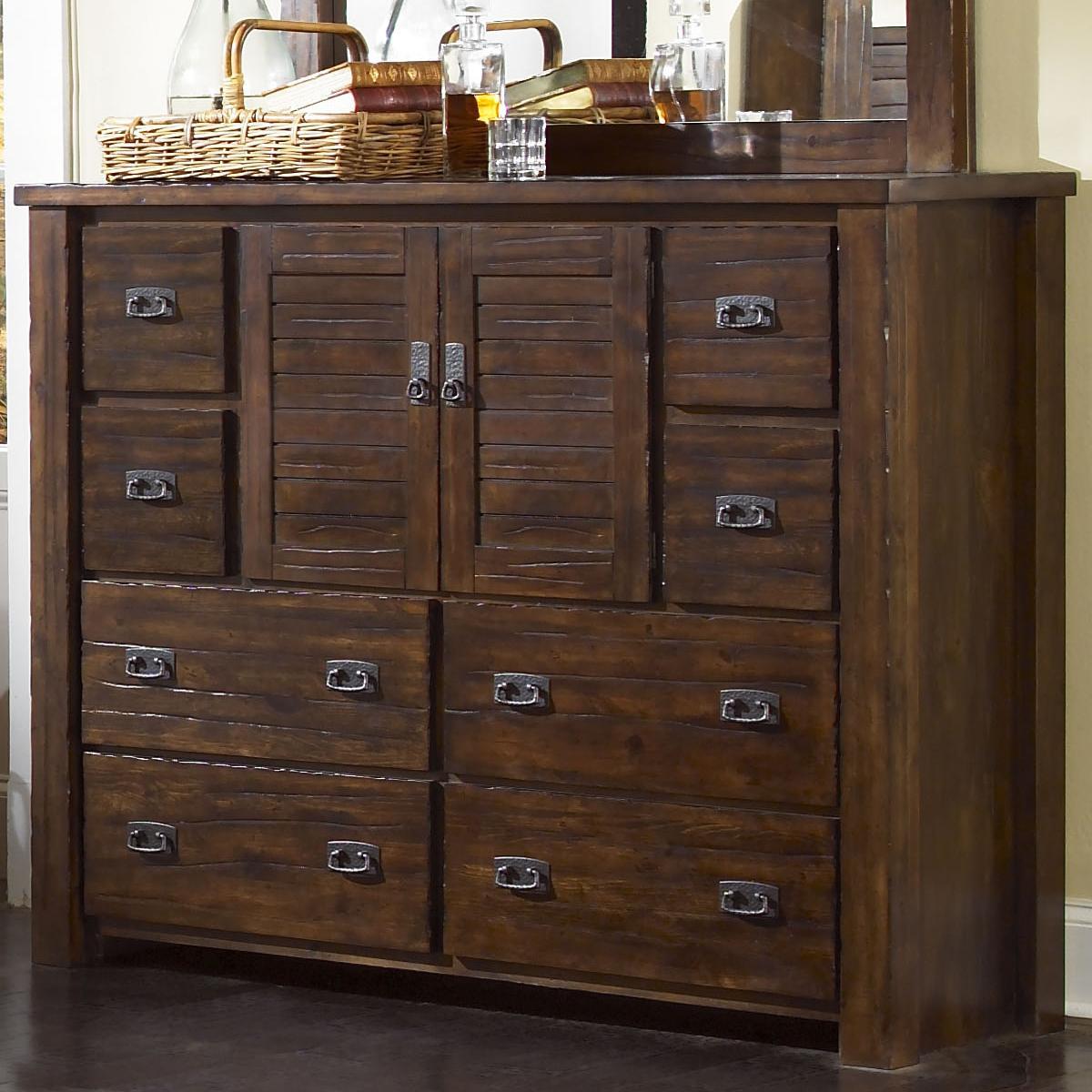Progressive Furniture Trestlewood Dresser W/ 8 Drawers