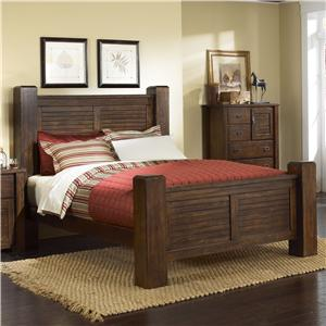 Progressive Furniture Trestlewood King Post Bed