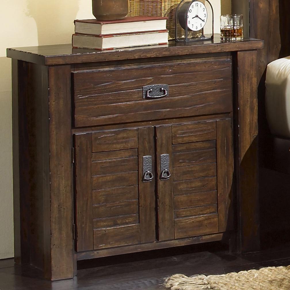 Progressive Furniture Trestlewood Nightstand - Item Number: P611-44