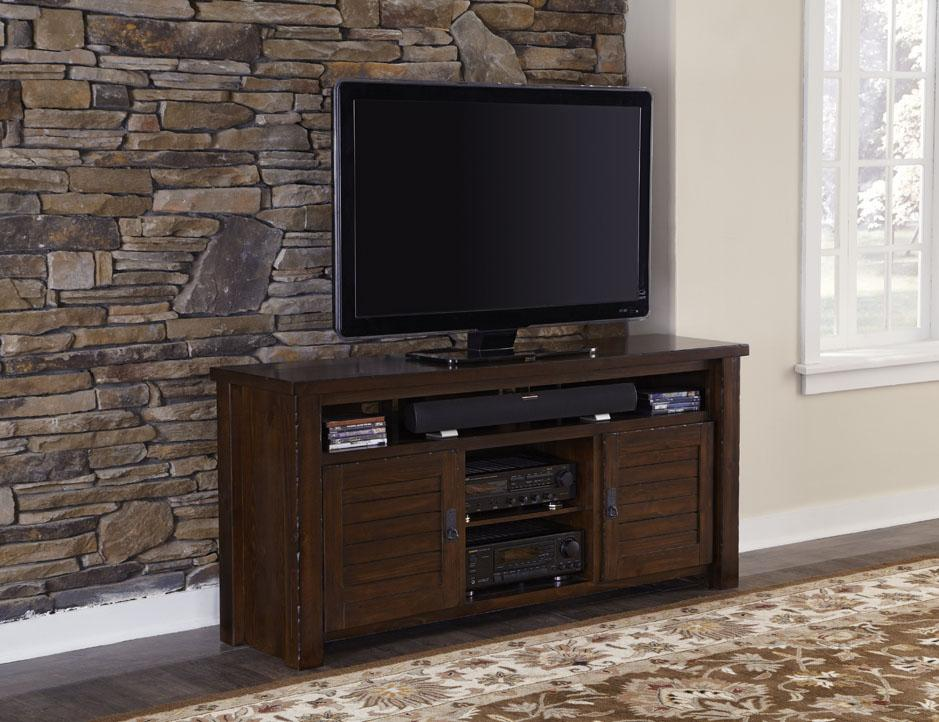"Progressive Furniture Trestlewood 64"" TV Console - Item Number: P611-64"