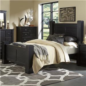 Progressive Furniture Trestlewood Queen Post Bed