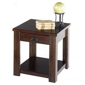 Progressive Furniture Trestlewood Castered Rectangular End Table
