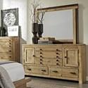 Progressive Furniture Trilogy Dresser and Mirror Set - Item Number: P633-23+50