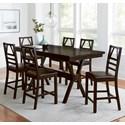 Progressive Furniture Trusses 7-Piece Counter Table Set - Item Number: D896-12+6x63