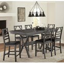 Progressive Furniture Trusses 7-Piece Counter Table Set - Item Number: D898-12+6x63