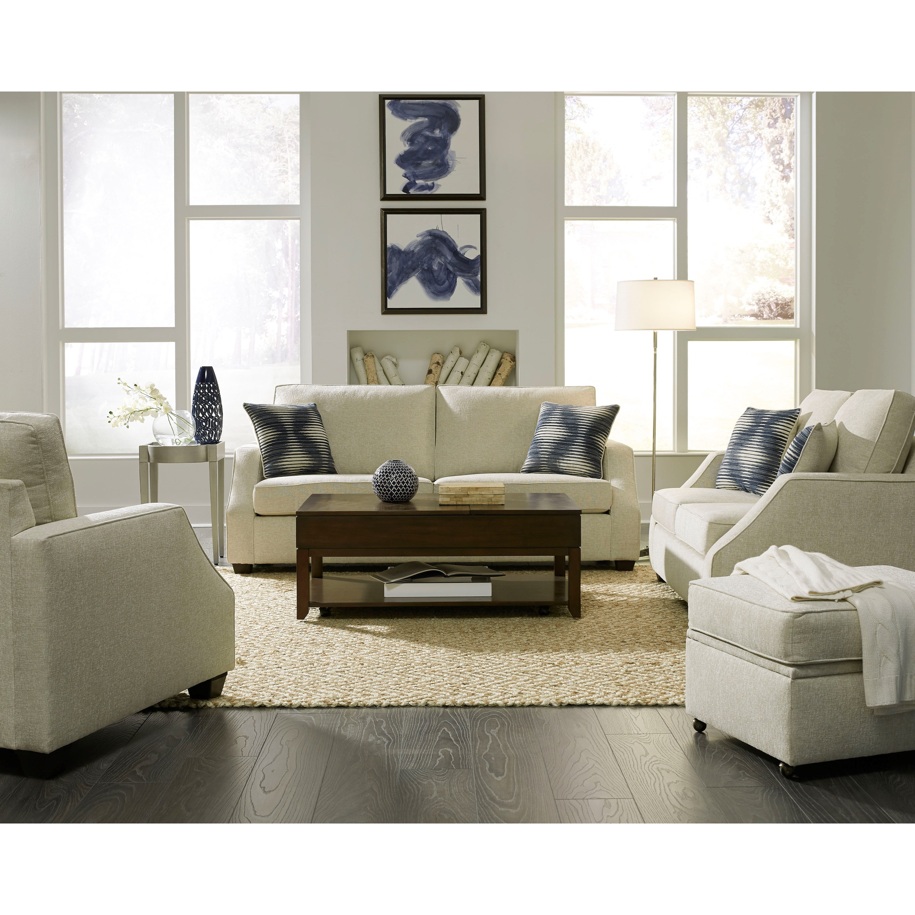 Progressive Furniture Hadley Two Cushion Sofa With Sloped