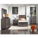 Progressive Furniture Wheaton 6 Piece Twin Bedroom Group - Item Number: 587362206