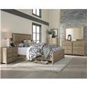 Progressive Furniture Wheaton 4 Piece Full Bedroom Group - Item Number: 598362300