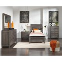 Progressive Furniture Wheaton Twin Bed Room Group - Item Number: B622 T Bedroom Group 1