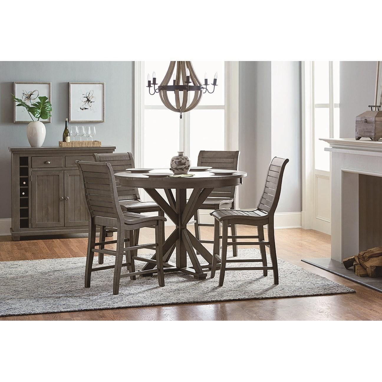 Progressive furniture willow dining casual dining room for Casual dining furniture