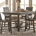 Progressive Furniture Willow Dining Rectangular Counter Height Table - Item Number: D801-12B+12T