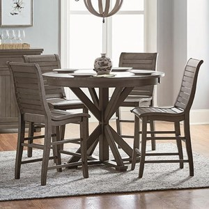 5-Piece Round Counter Height Table Set