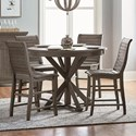 Progressive Furniture Willow Dining 5-Piece Round Counter Height Table Set - Item Number: D801-15B+15T+4x63