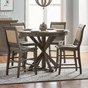 Progressive Furniture Willow Dining 5-Piece Round Counter Height Table Set - Item Number: D801-15B+15T+4x64