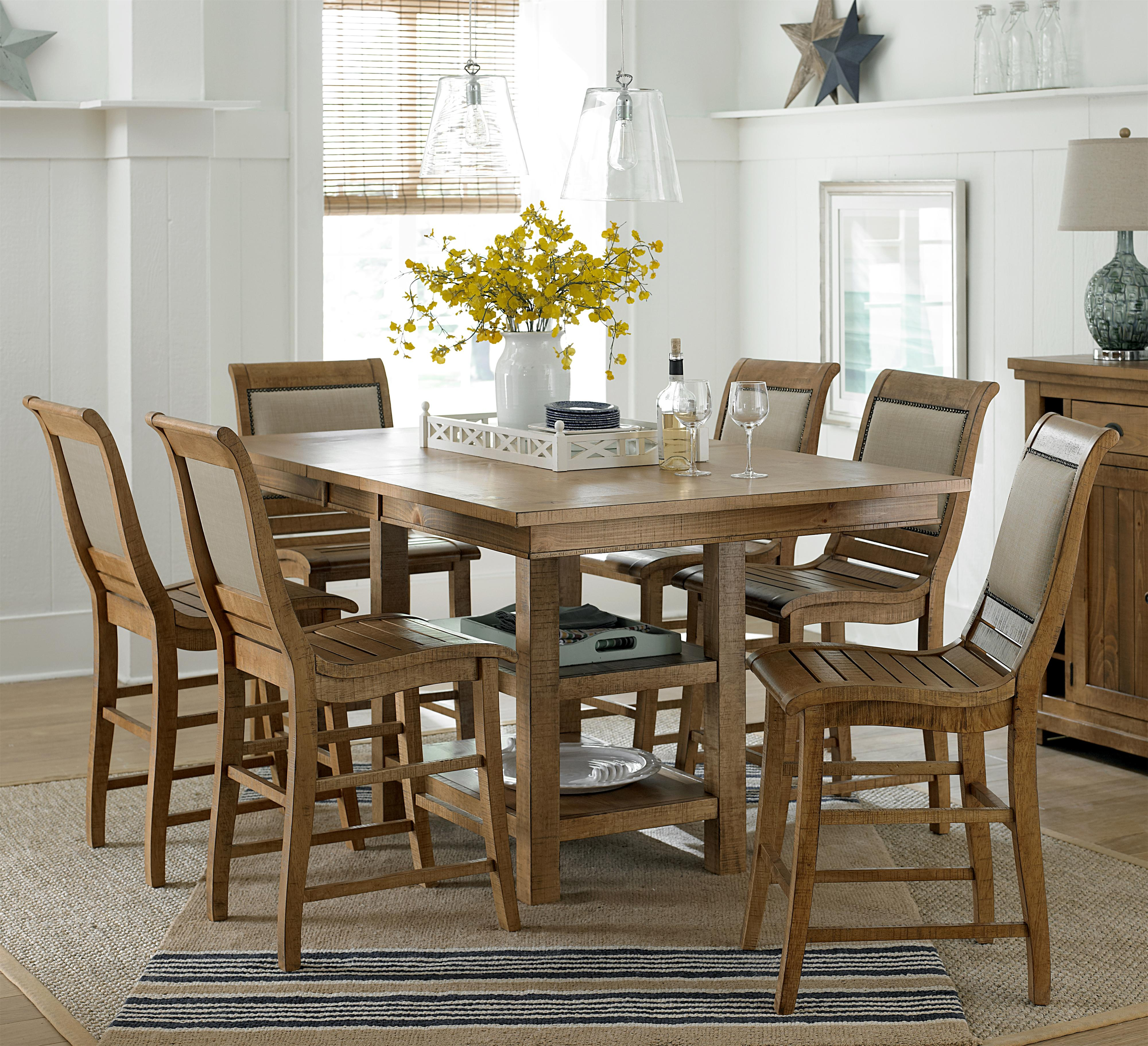 Progressive Furniture Willow Dining 7 Piece Rect Counter