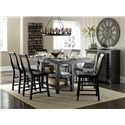 Progressive Furniture Willow Dining Formal Dining Room Group - Item Number: P812 Dining Room Group 8