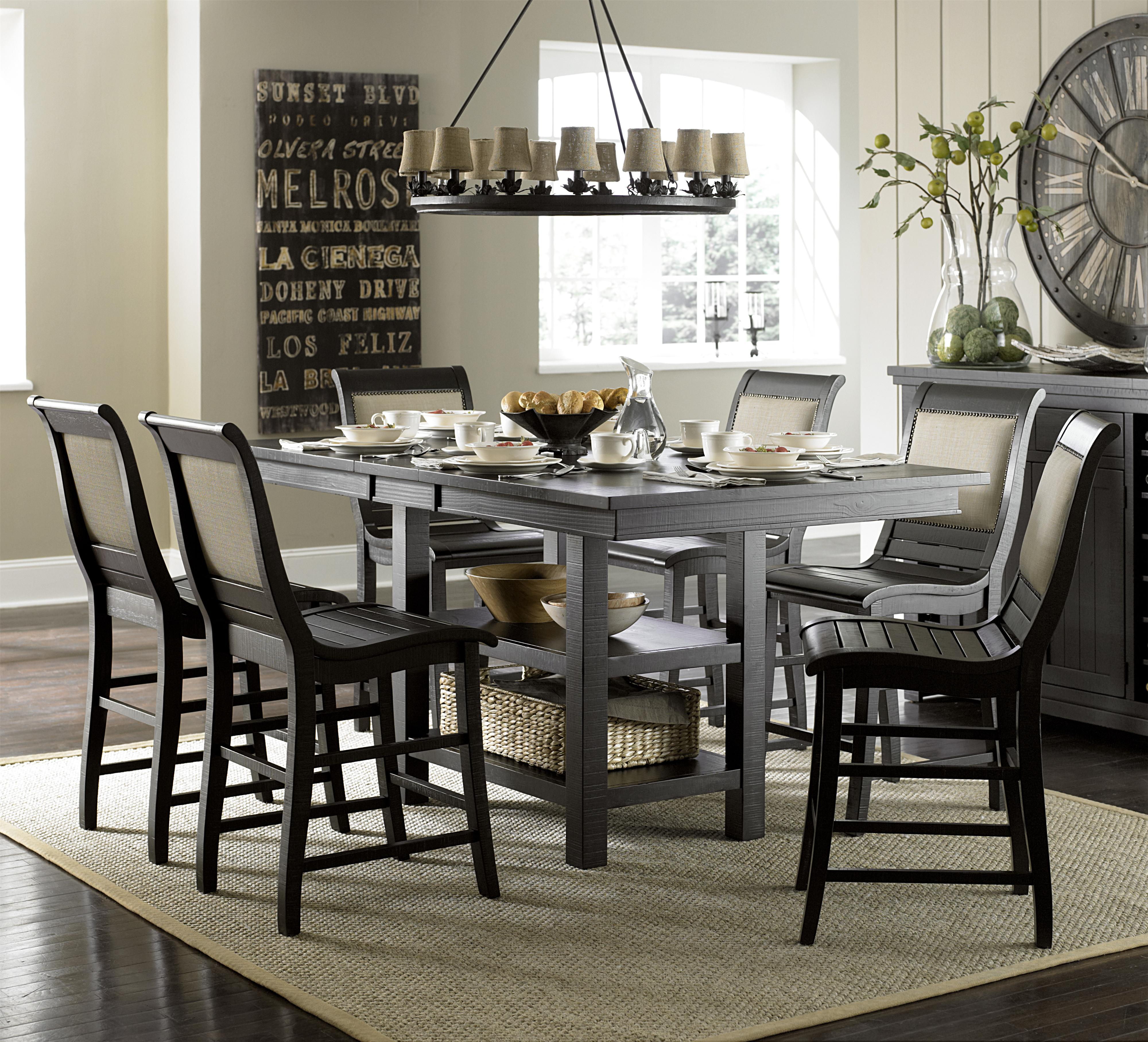 7-Piece Rect. Counter Height Table Set