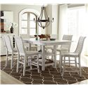 Progressive Furniture Willow Dining 7-Piece Rect. Counter Height Table Set - Item Number: P820-12B+12T+6x63