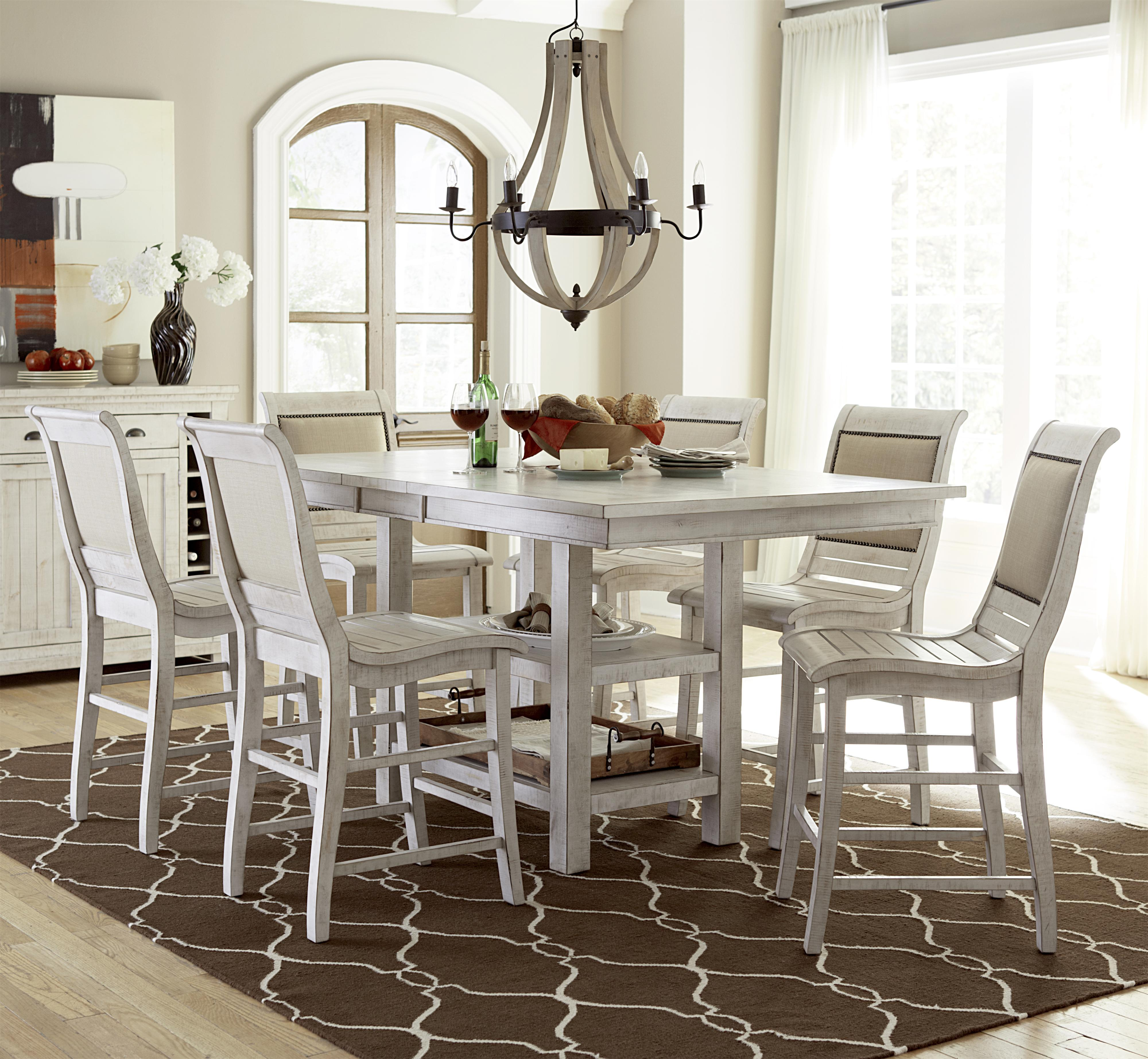 Progressive Furniture Willow Dining 7-Piece Rect. Counter Height Table Set - Item Number & Progressive Furniture Willow Dining 7-Piece Rectangular Counter ...