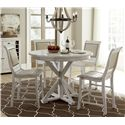 Progressive Furniture Willow Dining 5-Piece Round Counter Height Table Set - Item Number: P820-15B+15T+4x64