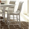 Progressive Furniture Willow Dining Distressed Finish Counter Upholstered Chair with Salvaged Wood Look