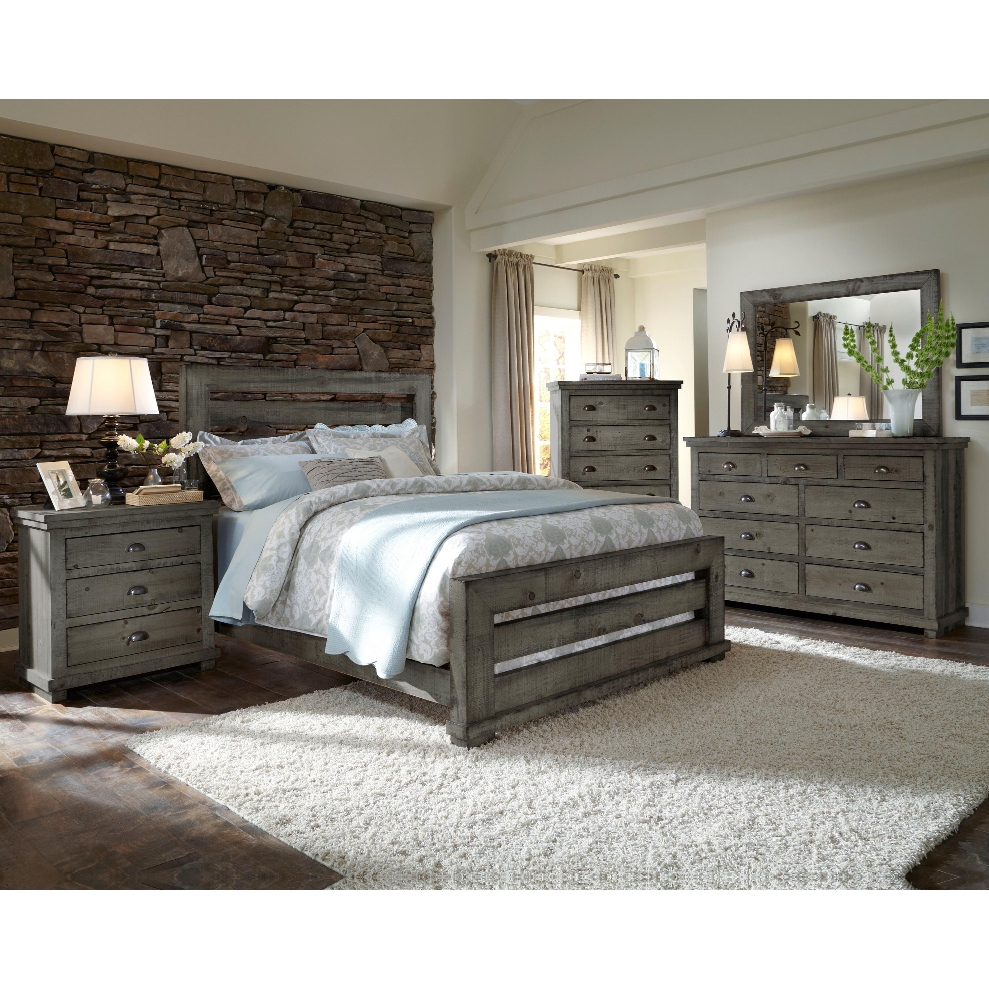 Bedroom Furniture Manufacturer: Progressive Furniture Willow King Bedroom Group