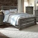 Progressive Furniture Willow Queen Slat Bed - Item Number: P600-60+61+78