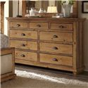 Progressive Furniture Willow Distressed Pine Drawer Dresser - P608-23