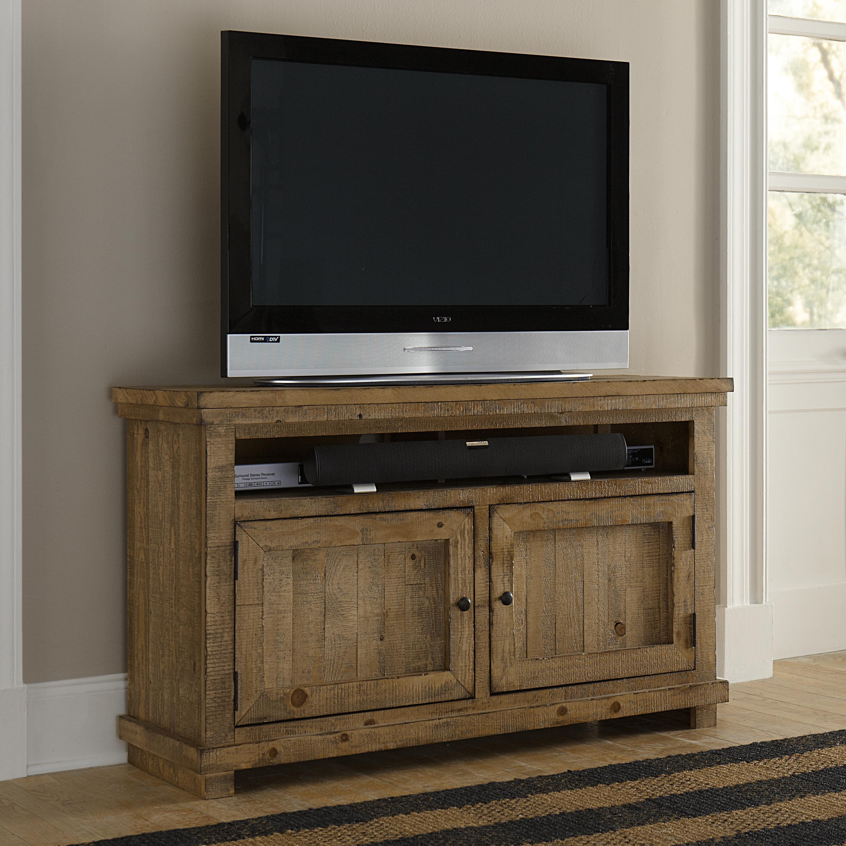 Progressive Furniture Willow Small 54 Distressed Pine Media Console Miskelly Furniture Tv