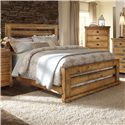 Progressive Furniture Willow King Slat Bed with Distressed Pine Frame - P608-80+81+78 - Queen Size Shown