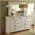 Progressive Furniture Willow Drawer Dresser & Mirror - Item Number: P610-23+50