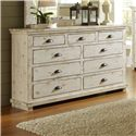Progressive Furniture Willow Drawer Dresser - Item Number: P610-23