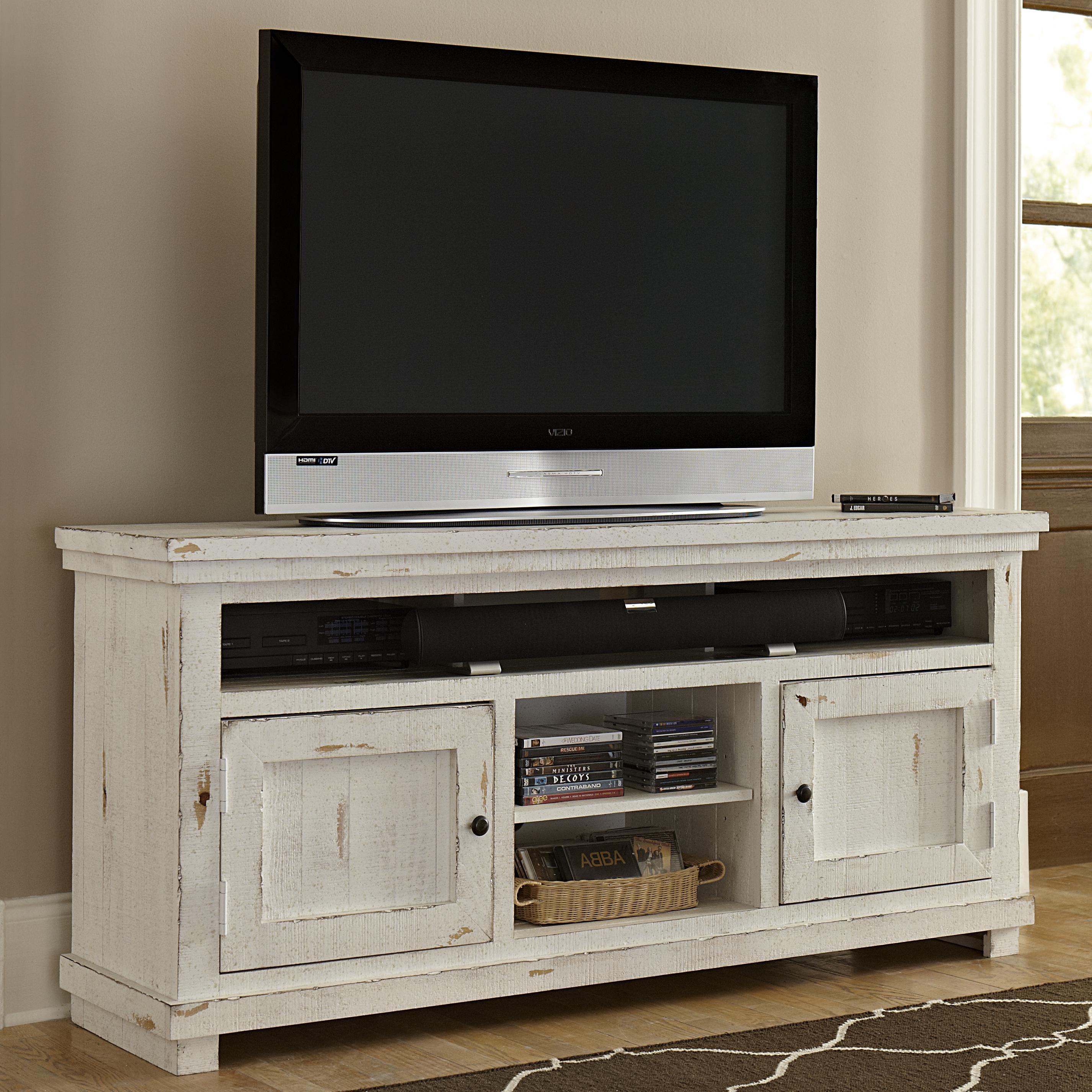 Progressive Furniture Willow Medium 64 Quot Distressed Pine