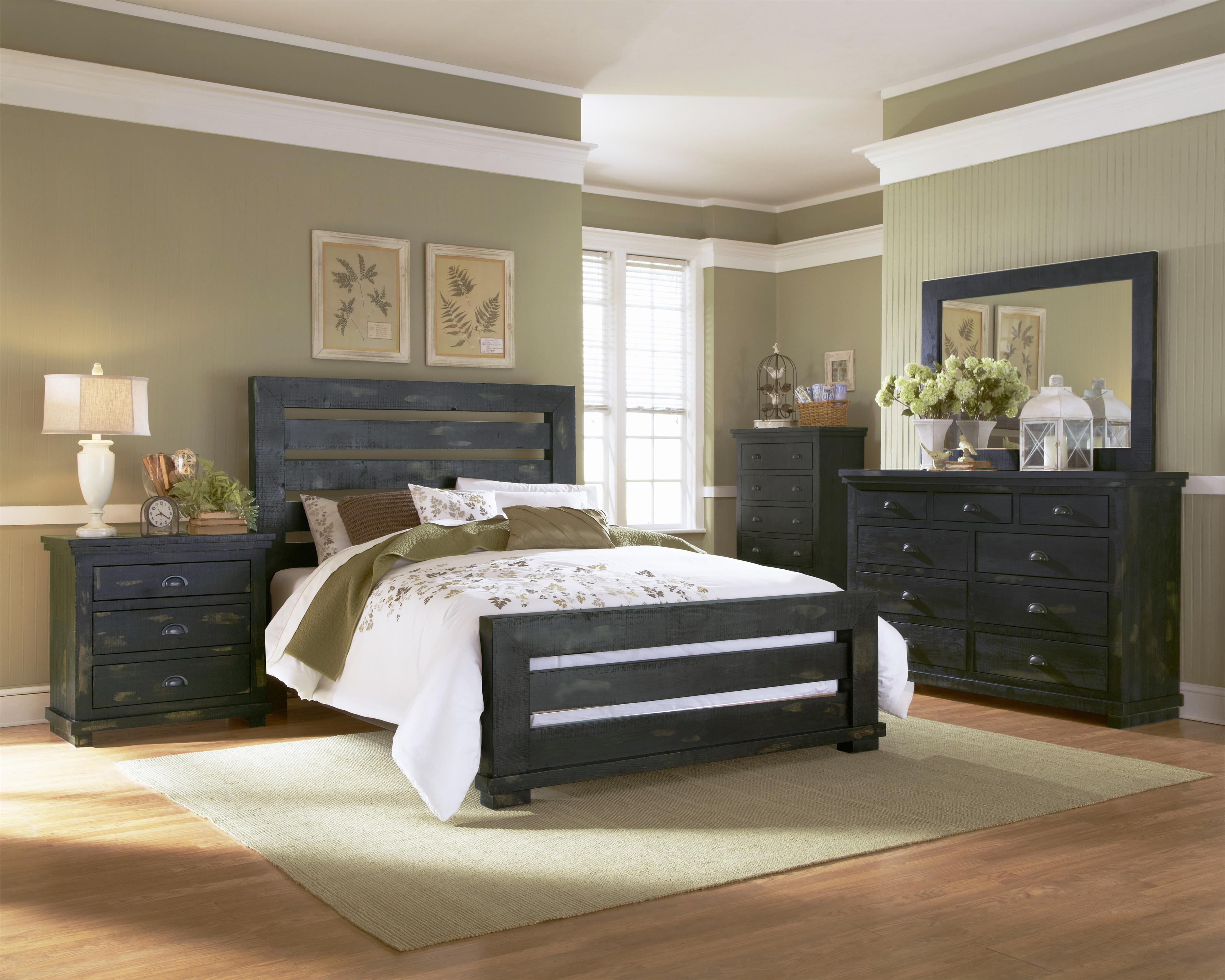 Perfect Progressive Furniture Willow King Bedroom Group   Item Number: P612 K Bedroom  Group 1
