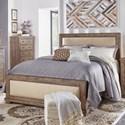 Progressive Furniture Willow Queen Upholstered Bed - Item Number: P635-34+35+78