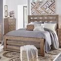 Progressive Furniture Willow King Slat Bed - Item Number: P635-80+81+78