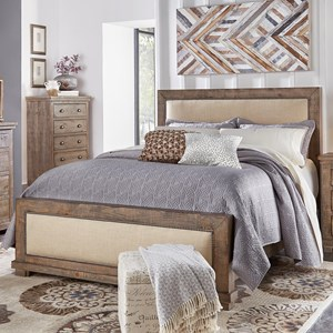 Progressive Furniture Willow King Upholstered Bed