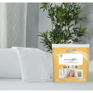 Protect-a-Bed AllerZip Smooth Pillow Protector Queen Size Allergy Proof Pillow Cover, 2-Pac