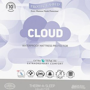 Protect-a-Bed Cloud Mattress Protector Queen Water Proof Mattress Protector